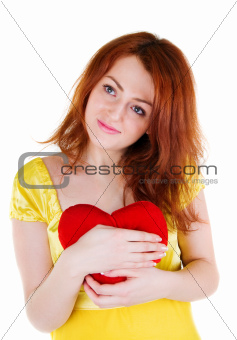 Young woman with valentine's