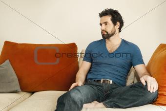 depressed man with beard