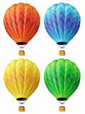 Set of 4 multi-coloured balloons 