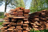 Fresh wooden boards