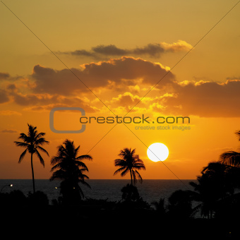 sunset, Varadero, Cuba