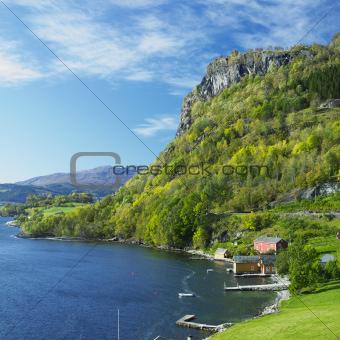 landscape by Haldanger fjord, Norway