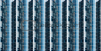 Abstract glass facade
