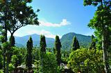 Mountainous scenery at Cianjur, Java, Indonesia