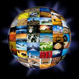Abstract photography globe