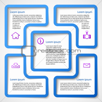 Abstract blue web design banner bubble