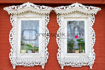 Traditional Russian windows