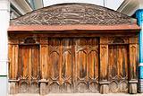 Old wooden ornate gate