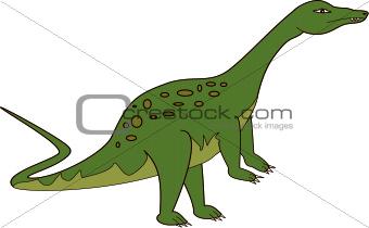 Green Apatosaurus Dinosaur available as a vector or jpg