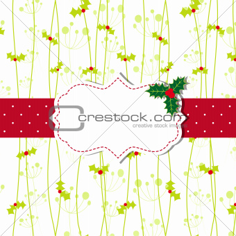 Christmas greeting card with ornate frame