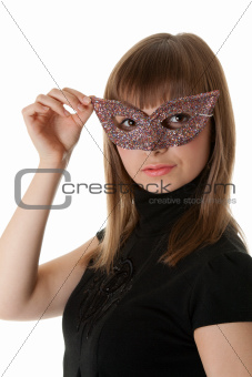 Beautiful girl wearing a mask