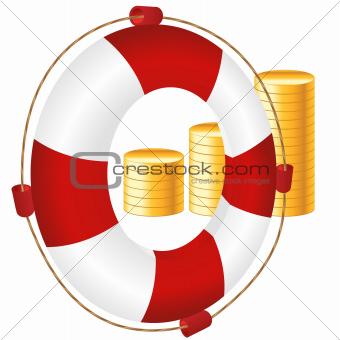money icon of bank deposit