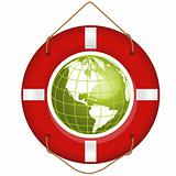 globe and lifesaver