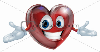 Heart cartoon man illustration
