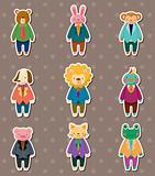 animal worker stickers