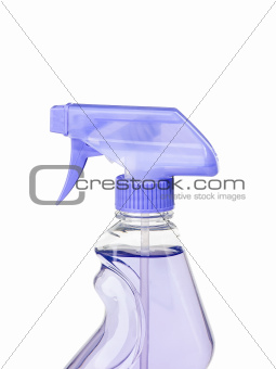 Purple head sray gun isolated on white background