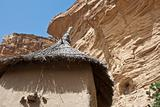 Roof of the granary in a Dogon village, Mali.