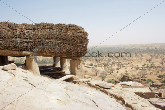 A Toguna in a Dogon village, Mali (Africa).