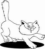 running fluffy cat fot coloring