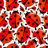 Red ladybug pattern