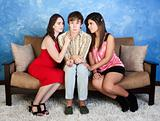 Nervous Teen with Girls