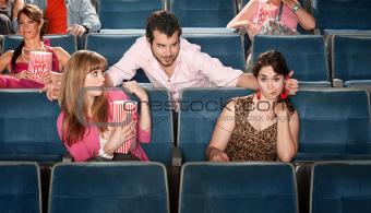 Obnoxious Man in Theater