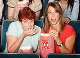 Scared Ladies in Theater