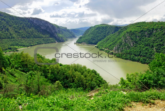 Danube canyon between Serbia and Romania