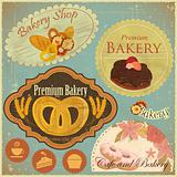Set of Vintage Bakery and Cafe Labels