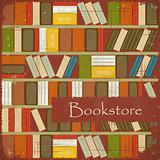 Vintage Bookstore Background