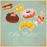Vintage Cover Cafe or confectionery  Menu