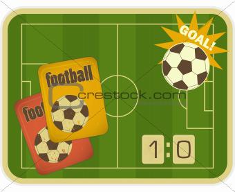 Football Retro Card