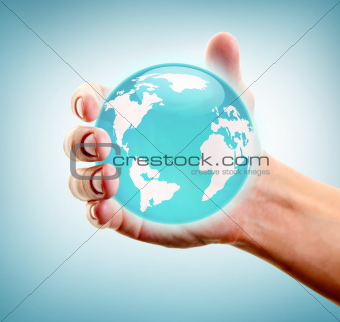 Holding world in hand