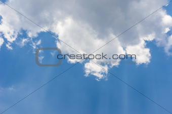 clouds and sun in blue sky