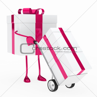 gift box hold hand truck