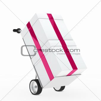 gift box hand truck