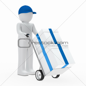 figure supplier push hand truck