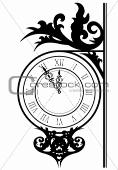 Vector illustration of street clock