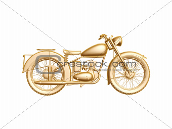 golden motor cycle