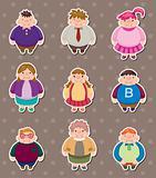 Cartoon Fat people stickers