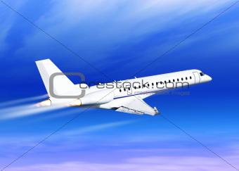 white fast jet