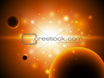 Space background with stars.