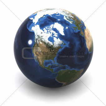 USA Earth Globe