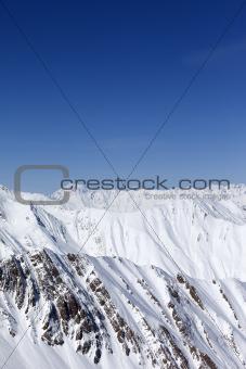 Winter mountains. Caucasus Mountains, Georgia