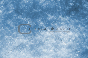 blue snow as nice christmas background