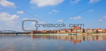 skyline of Torun, Poland