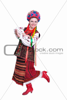 Girl in national ukrainian (russian) costume