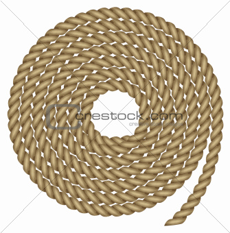 Vector illustration of rope