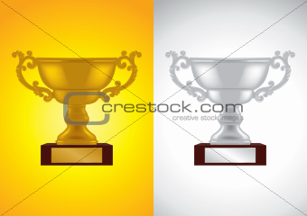Gold and Silver Award - Vector Illustrations