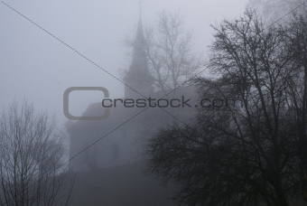 Chapel in the fog